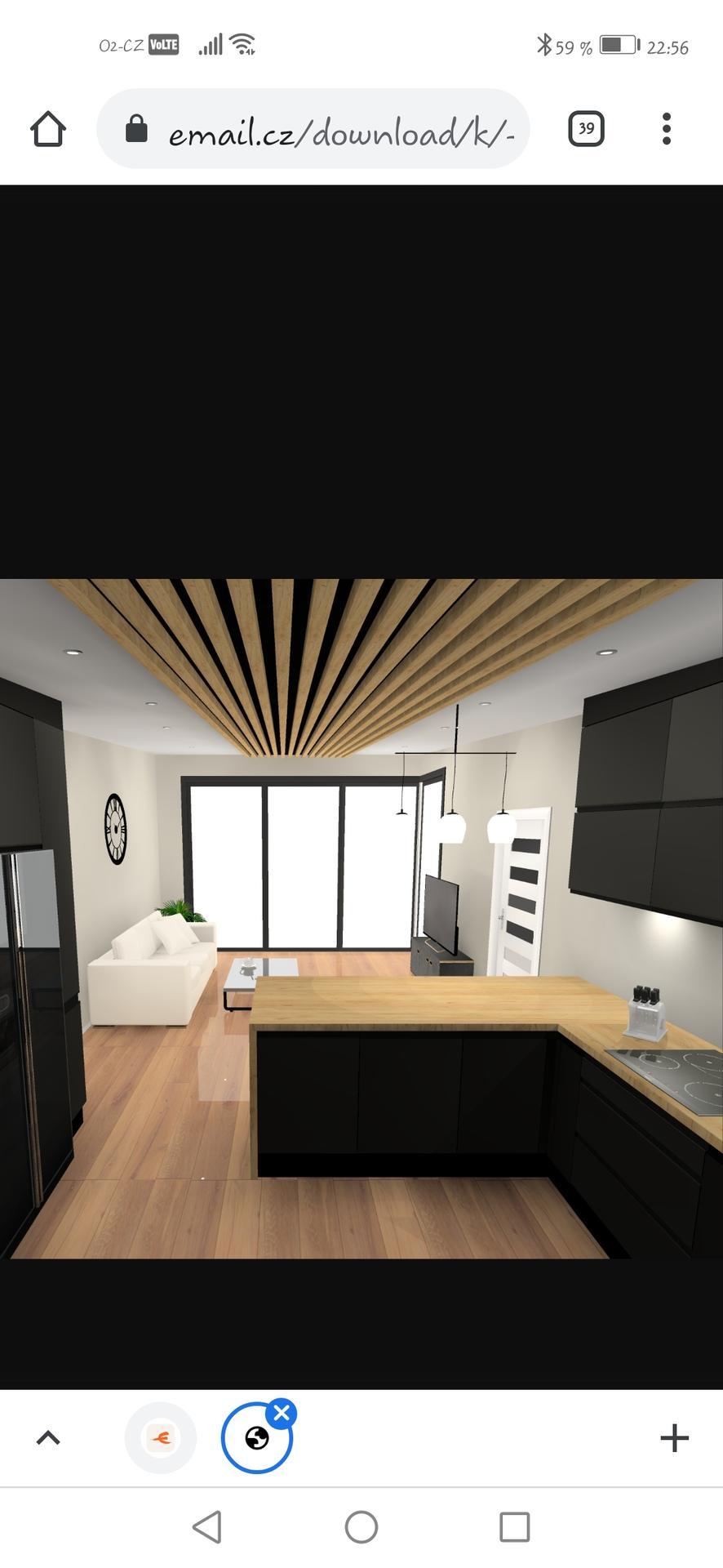 Černou nebo kombinaci s dřevem? Za mě černá... Kvůli podlaze a stropu :) - Obrázek č. 2