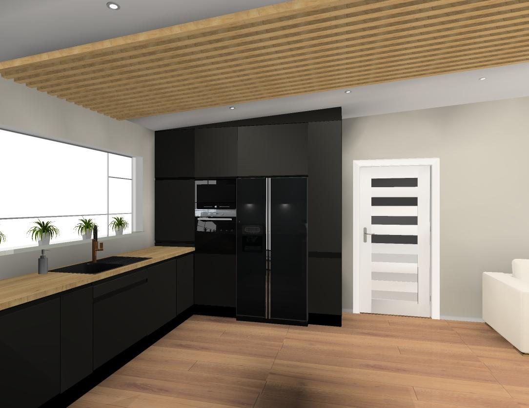 Černou nebo kombinaci s dřevem? Za mě černá... Kvůli podlaze a stropu :) - Obrázek č. 3