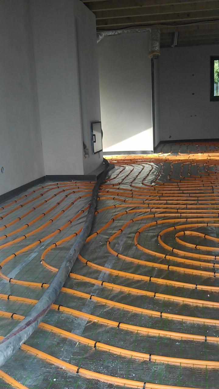 Práce v interiéru - podlahové vytápění - gabotherm