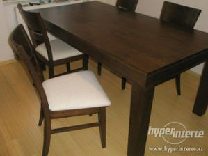 12. 7000Kc stůl + 4 židle - použité, 95x180cm, dýha