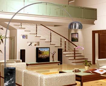 Obývací pokoj a kuchyn ispirace - zalíbila se mi tato lampa