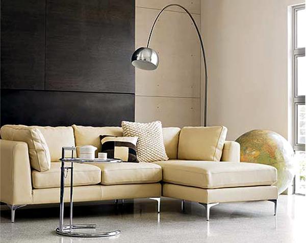 Obývací pokoj a kuchyn ispirace - arco floor