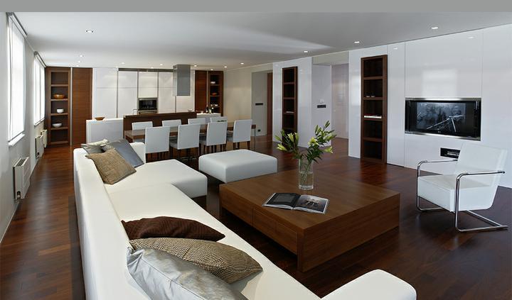 Obývací pokoj a kuchyn ispirace - krása, nemám slov, brala bych všema deseti