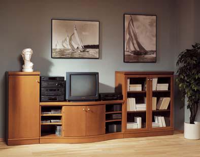 Obývací pokoj, jídelna a kuchyň realita - largo dřevotvar, přesně toto máme