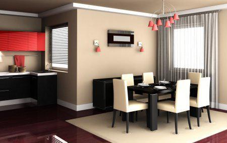 Obývací pokoj a kuchyn ispirace - Krásný interiér