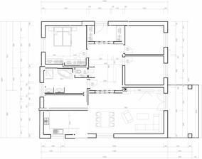 @sprite001 rozměry domu zachované, velka koupelna, ze ktere by se slo do technicke - vyhoda, že mas vse u sebe, kuchyn, technicka, koupelna. jen vstup by musel byt z jine strany. více ulozneho prostoru v loznici, ve vstupni chodbe, kuchyn tu je delsi