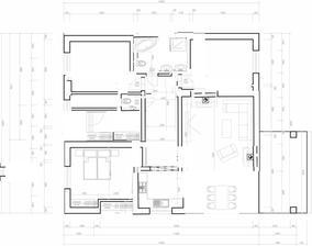 @sprite001  rozměry domu zachované, zvětšená koupelna, v ní by měla být i pračka, mistnustka za wc je technicka, na obrazku jsou dve umisteni krbu