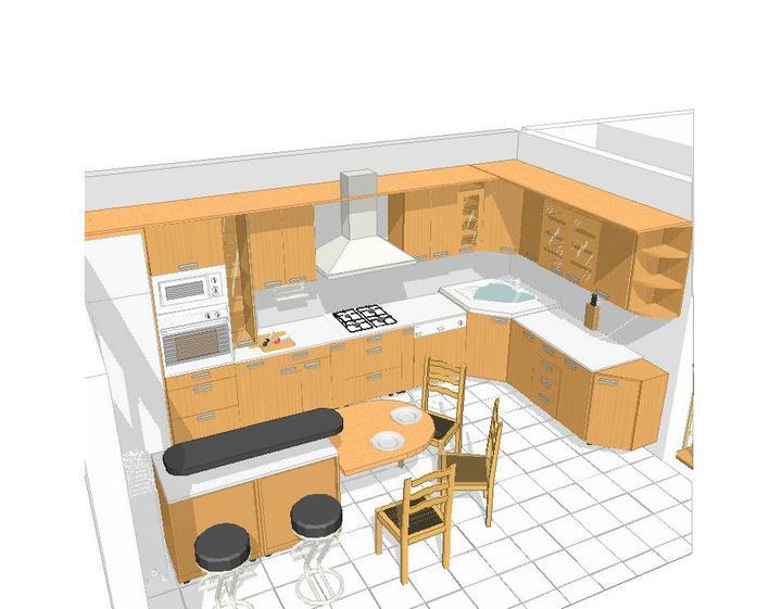 Byt - naše první společné bydlení - návrh naší kuchyně