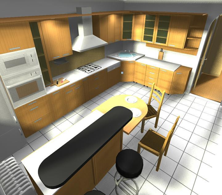 Byt - naše první společné bydlení - vizualizace kuchyne
