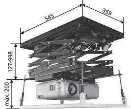 výsuv na projektor
