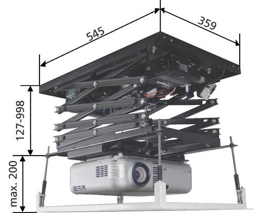 Obývací pokoj a kuchyn ispirace - výsuv na projektor