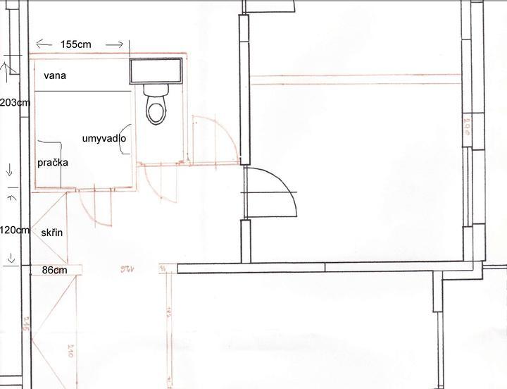 Mala panelakova koupelna - nynější stav