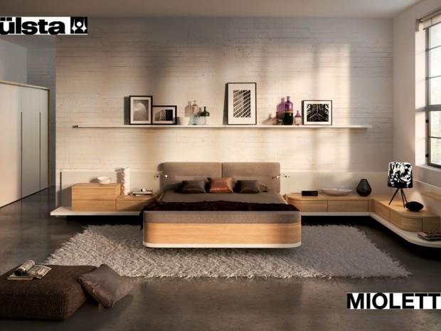 Ložnice - poličky kolem postele mají být takto, ale v jinem barevnem provedeni