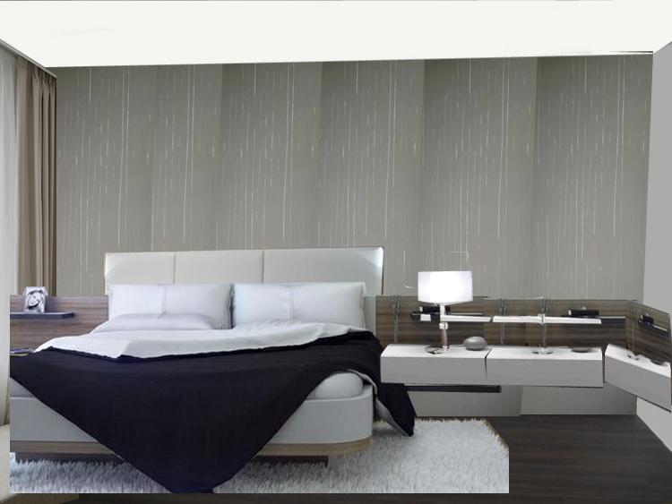 Ložnice - bily strop a seda prava stena