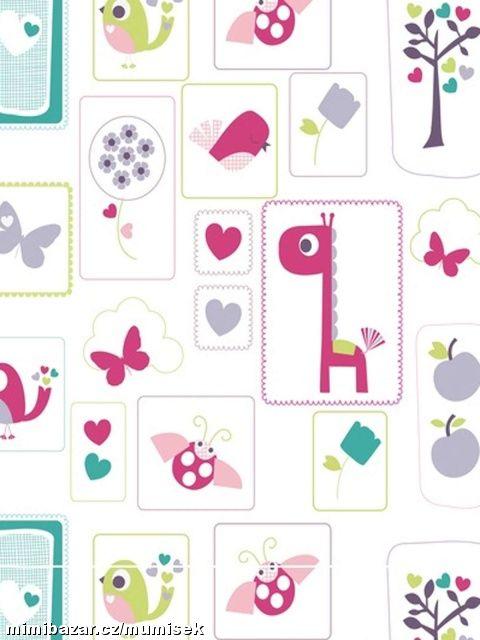 Pokojíček inspirace - krásná, veselá, dětská tapeta