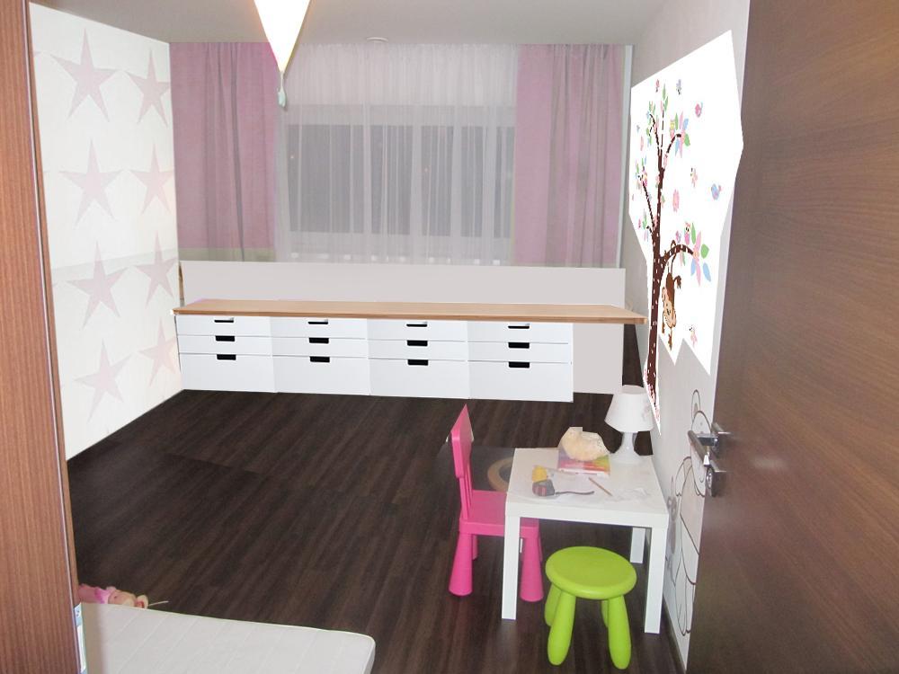Pokojíček inspirace - ulozny prostor pod oknem - celkem 240cm výšky 60cm - ale nemam nikde zadny dalsi :(