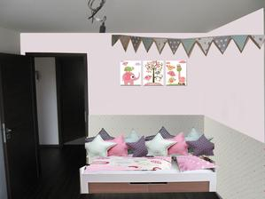 postel u dveri - nevyhoda, musela by byz kratsi cca 190cm, hned za zdi je wc :(