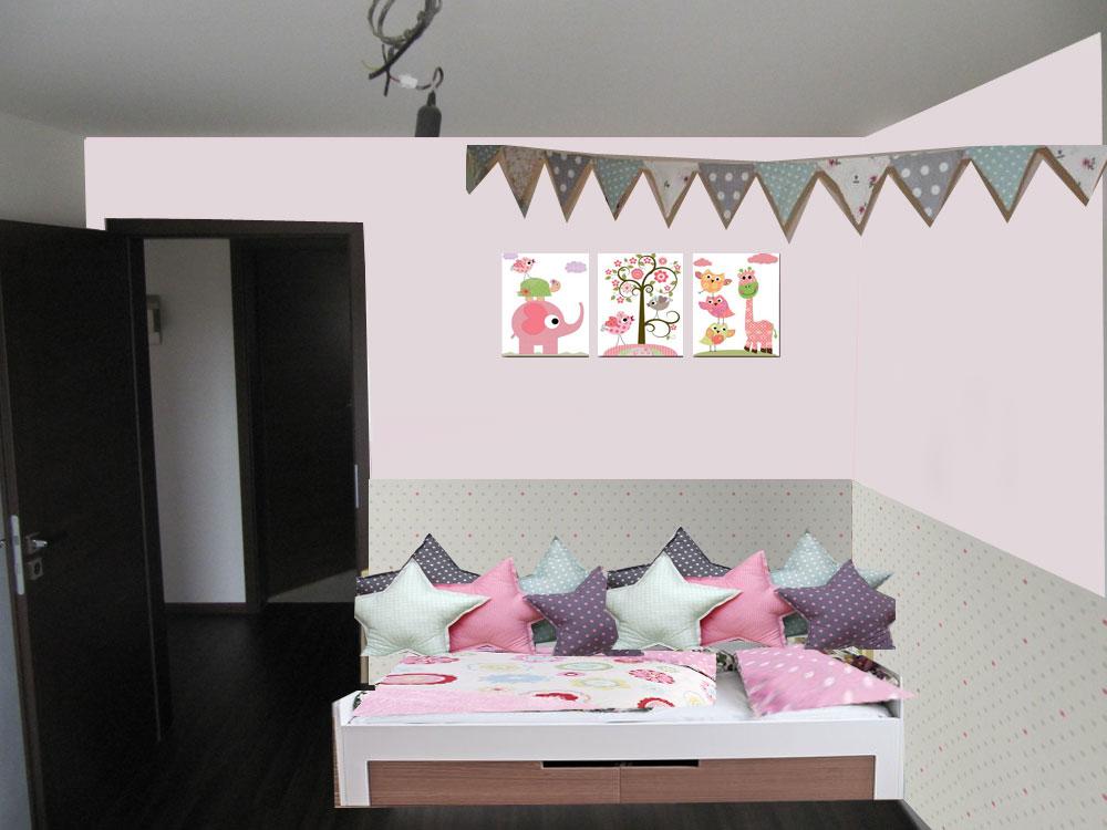 Pokojíček inspirace - postel u dveri - nevyhoda, musela by byz kratsi cca 190cm, hned za zdi je wc :(