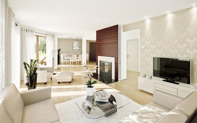 Obývací pokoj a kuchyn ispirace - Obrázek č. 140