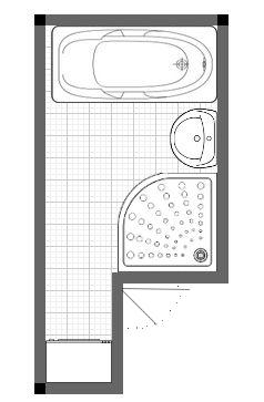 Mala panelakova koupelna - navrh 1