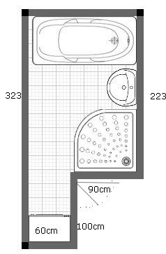 Mala panelakova koupelna - Navrh 1. okotovany
