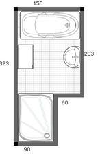 navrh 2. dvere na stene, kde je 60cm