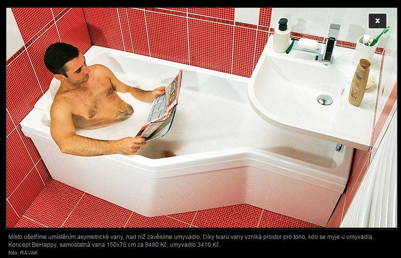 Mala panelakova koupelna - vybraná vana ravak be happy 160cm