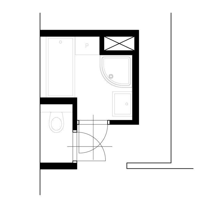 Mala panelakova koupelna - navrh od carpatia
