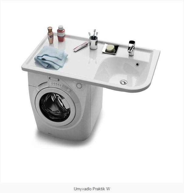 Mala panelakova koupelna - umyvadlo ravak practic