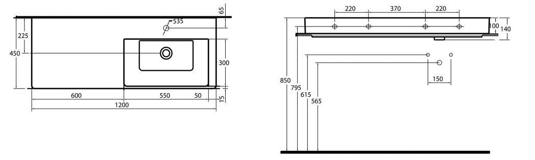 Mala panelakova koupelna - umyvadlo purity 120cm