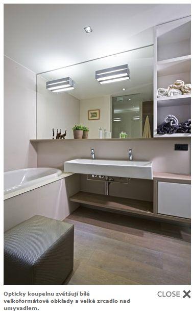Mala panelakova koupelna - zrcadlo prodlouzene nad vanou