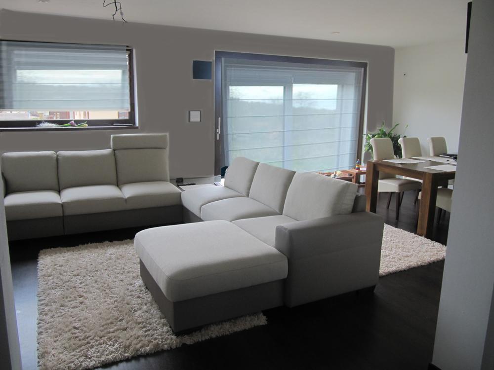 Obývací pokoj, jídelna a kuchyň realita - prosím o pomoc zastineni,.. zutulneni? vymalba - rimska roleta