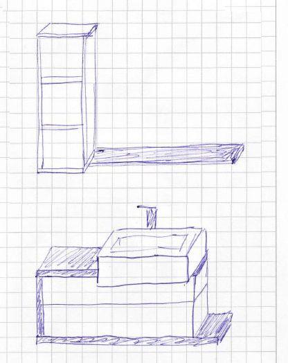 Mala panelakova koupelna - umyvadlova skrinka