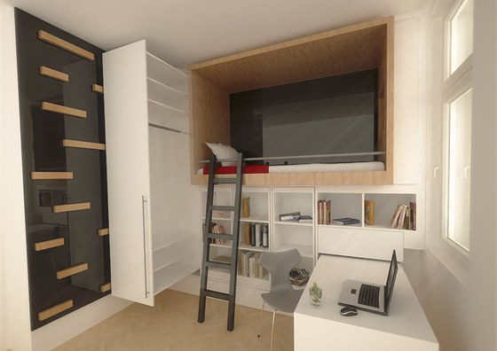 Pracovna, vestavěné skříně - Obrázek č. 99