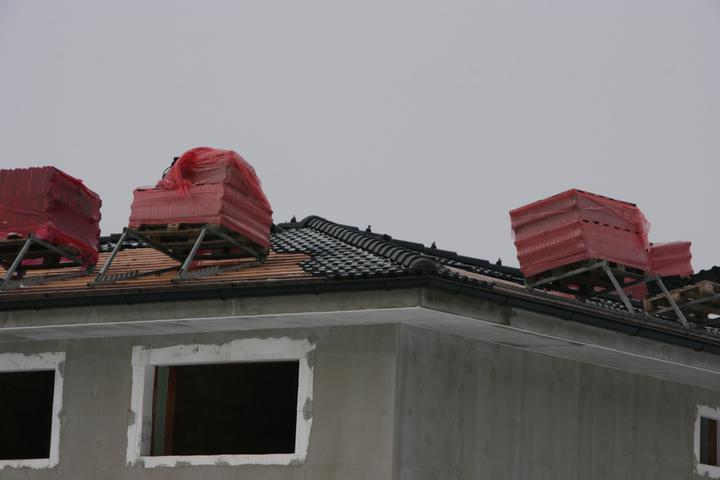 Stavba domu - 18.12.2010 střecha