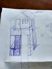 První nákres našeho domku