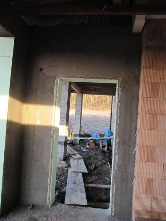 Stavba domu - 8.2.2011 garáž