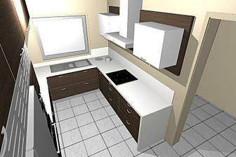 Moje budoucí kuchyn, budou jiné uchyty a jiný typ digestore, jinak vseobecne sedi