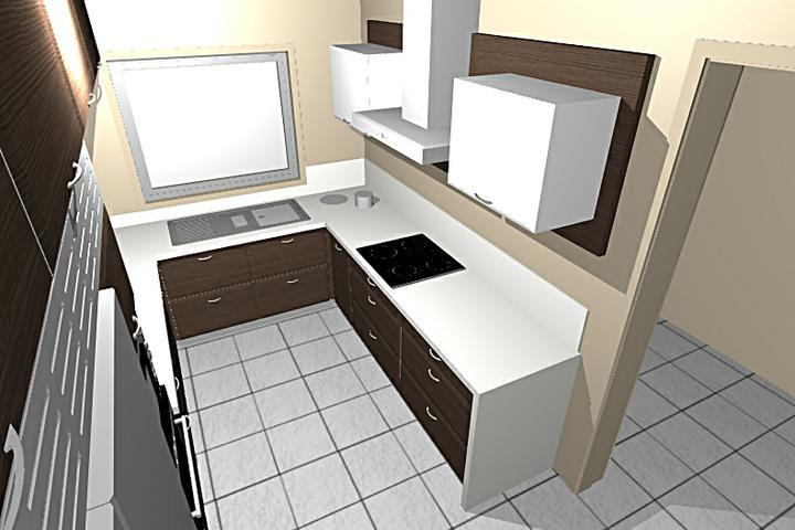 Obývací pokoj, jídelna a kuchyň realita - Moje budoucí kuchyn, budou jiné uchyty a jiný typ digestore, jinak vseobecne sedi