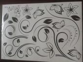 Samolepka motýlková květina,