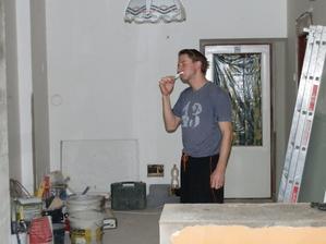 ranní hygiena mezi cementem:)