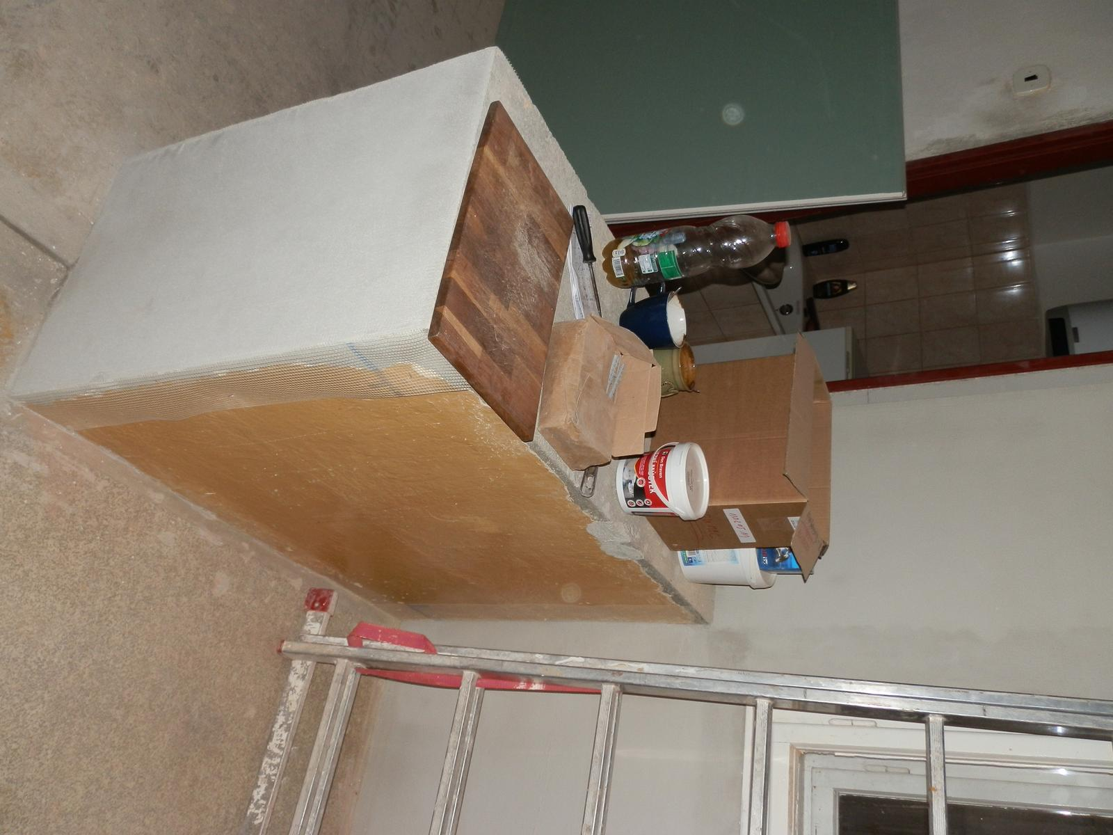 Náš byt v domě- rekonstrukce - provizorní bar
