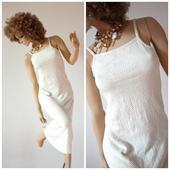 Alternatívne svadobné šaty úpletové boho hippie, 36