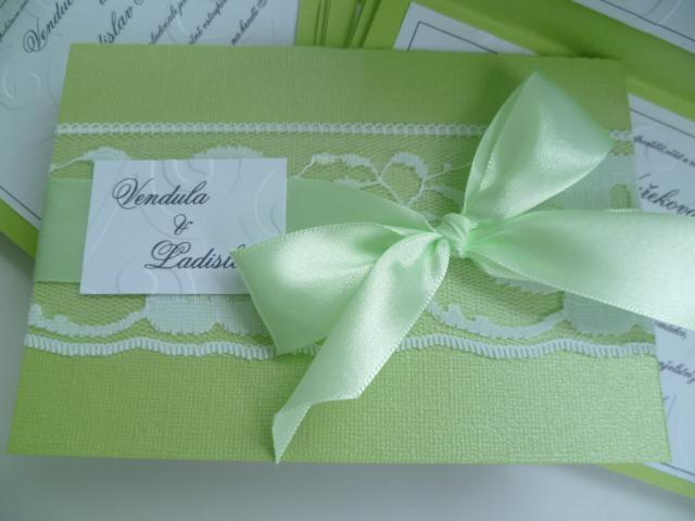 Dekorace na svatební den-zakázková tvorba - svatební oznámení
