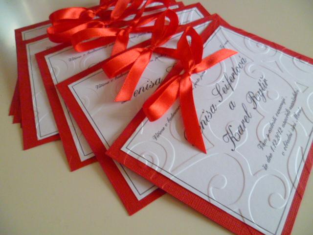 Dekorace na svatební den-zakázková tvorba - Svatební oznámení 23kč