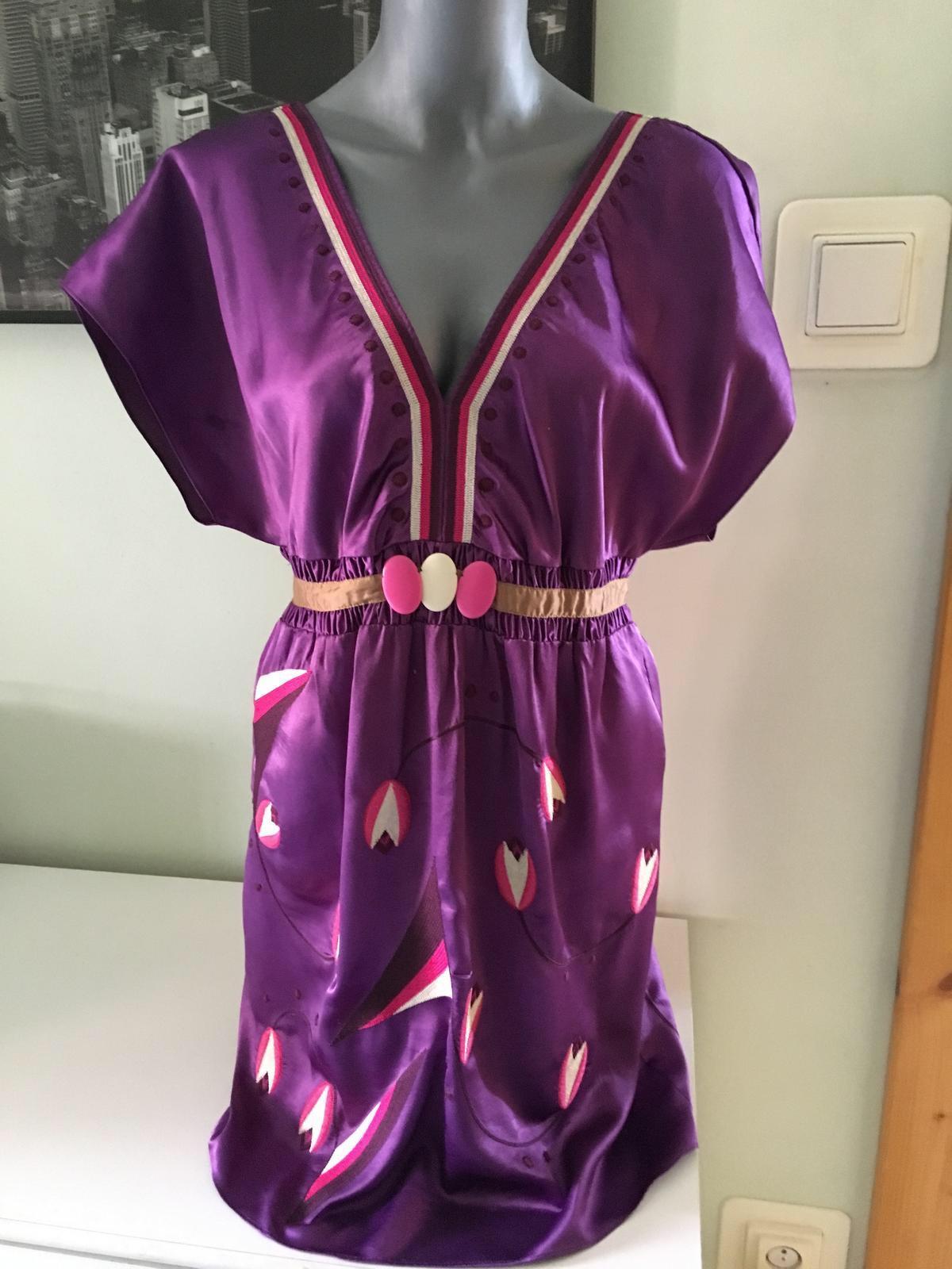 Hodvábne šaty/tunika Marks & Spencer - Obrázok č. 1