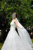 Svatební šaty, tylová sukně, 38