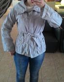 Sivá bunda - trenčkot č.L (kabát), 40
