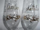 Ručne zdobené poháre,
