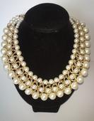 perlový mohutný náhrdelník,